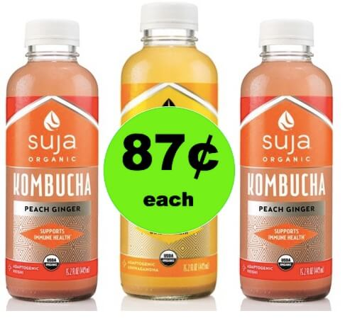 Here's to Your Health with 87¢ Suja Kombucha Drinks atTarget! (Ends 3/3)