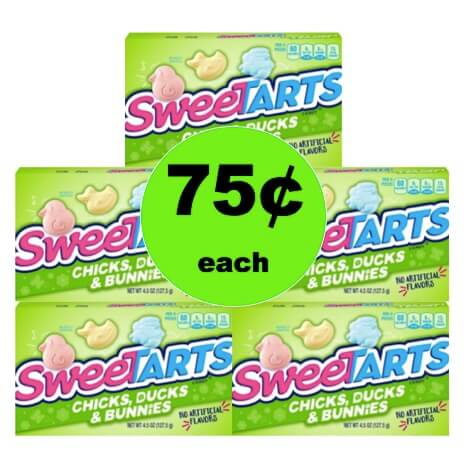 Easter Basket Stuffers! Get 75¢ SweeTarts Chicks, Ducks and Bunnies Boxes at Walmart!