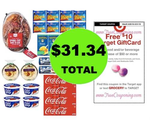 Easter Meal Stock Up! JUST $31.34 for (28) Food & Beverage Items at Target! (Ends 3/31)