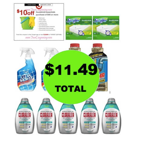 For ONLY $11.99, Get (11!) Household & Cleaning Products at Target! (3/4 – 3/10)