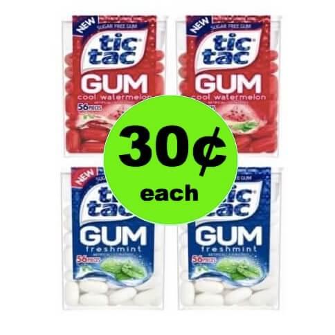 Get Tic Tac Gum ONLY $.30 Each at Target! (Ends 5/5)