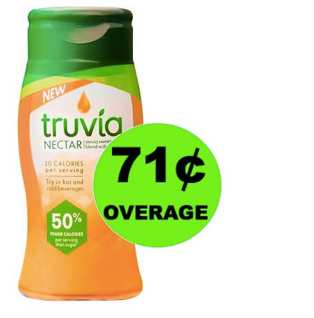 FREE + 71¢ OVERAGE on Truvia Nectar at Target!