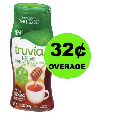 FREE + 32¢ OVERAGE on Truvia Nectar at Walmart! (Ends 3/25)