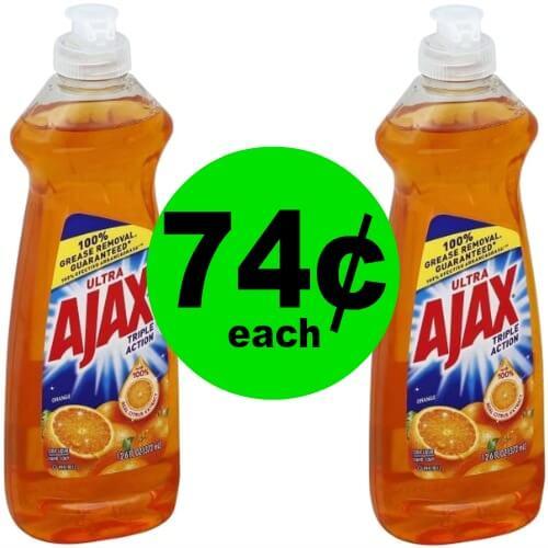 PRINT Now for 74¢ Ajax Dish Soap at Publix!