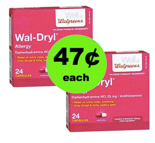 Stuffiness Got You Down? Clear It Up with 47¢ Wal-Dryl Allergy Medicine at Walgreens! (Ends 4/7)