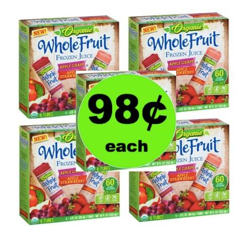 98¢ Whole Fruit Organic Frozen Juice Tubes at Walmart!