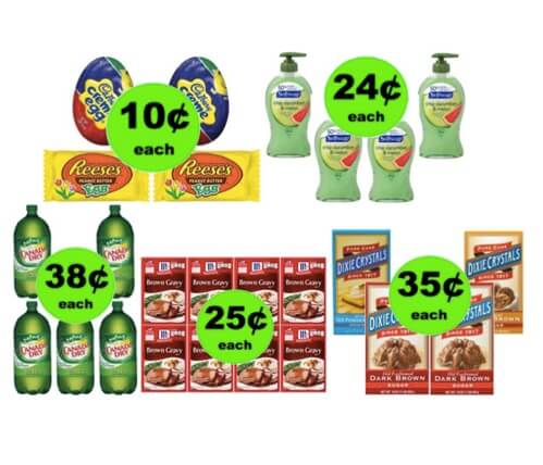 FIVE (5!) Deals 38¢ Each or Less (Some as low as 10¢) at Winn Dixie Ad Starts 3/28/18!