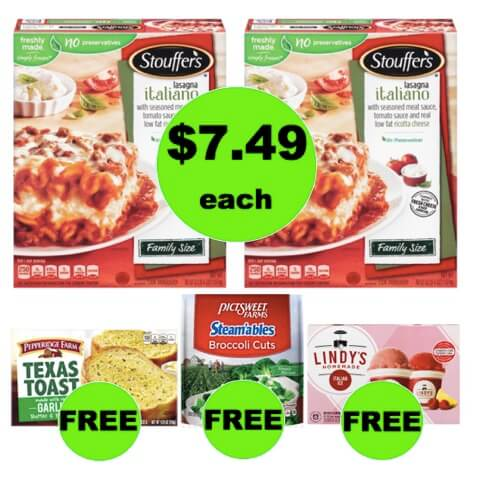 Winn Dixie Meal Deal: Buy TWO (2!) Stouffer's Family Size Lasagna for $7.49 Each, Get FREE Veggies, Bread, & Italian Ice! (3/7 – 3/13)