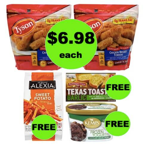 Winn Dixie Meal Deal: Buy TWO (2!) Tyson Frozen Breaded Chicken, Get FREE Potatoes, Garlic Toast and  Frozen Yogurt! (3/21-3/27)
