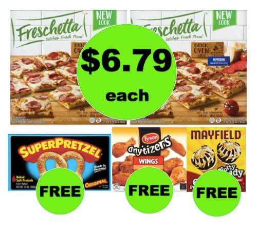 Winn Dixie Meal Deal: Buy TWO (2!) Freshcetta Pizzas, Get FREE Soft Pretzels, Chicken and Ice Cream! (3/28-4/3)