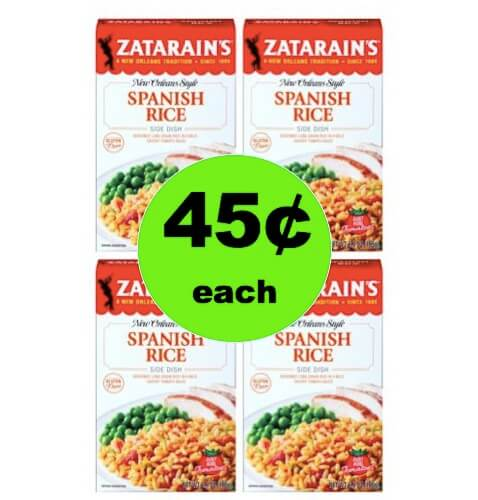 Add a Little Spice to Dinner with Zatarain's Rice Mix Only 45¢ at Winn Dixie! (Ends 3/13)