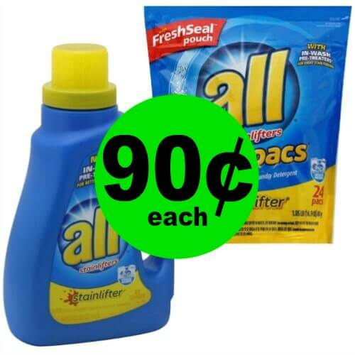 Print NOW for All Laundry Detergent, 90¢ at Publix! 4/26 – 5/2 (or 4/25 – 5/1)