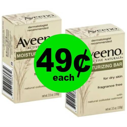 Aveeno Moisturizing Bars, 49¢ at Publix! (Ends 4/17 or 4/18)