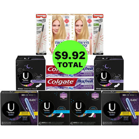 For $9.92, Get (2) Eyeliners, (2) Toothpastes, (2) Hair Color & (6) Feminine Care at CVS! (4/22 – 4/28)