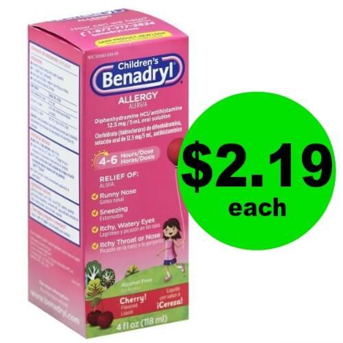 Children's Benadryl, Only $2.19 (Save $4) at Publix! (Ends 4/20)