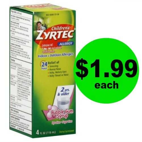 Children's Zyrtec, Only $1.99 (Save $10) at Publix! (Ends 4/17)