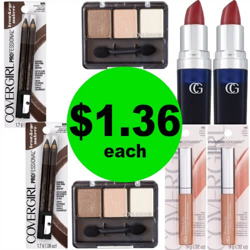 CoverGirl Cosmetics, $1.36 at CVS! (Ends 4/21)