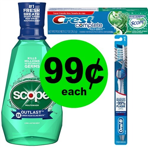 Crest, Oral-B, or Scope, 99¢ Each at CVS! (Ends 4/14)