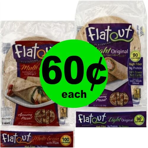 Flatout Flatbread, 60¢ at Publix! (Ends 4/10 or 4/11)
