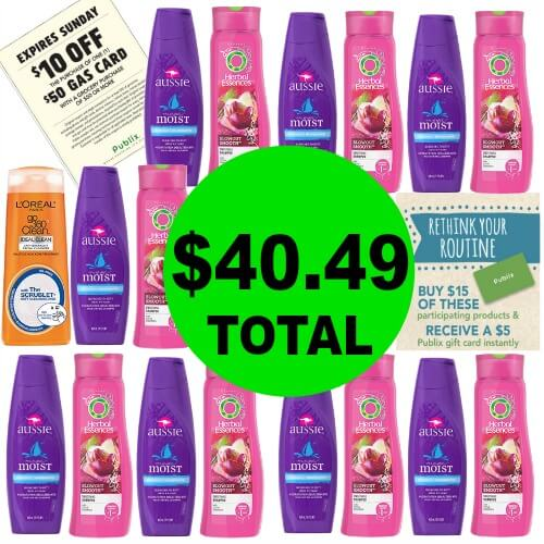 $40.49 For (17) Products And A $50 Gas Card at Publix! (4/18-4/20 or 4/19-4/20)