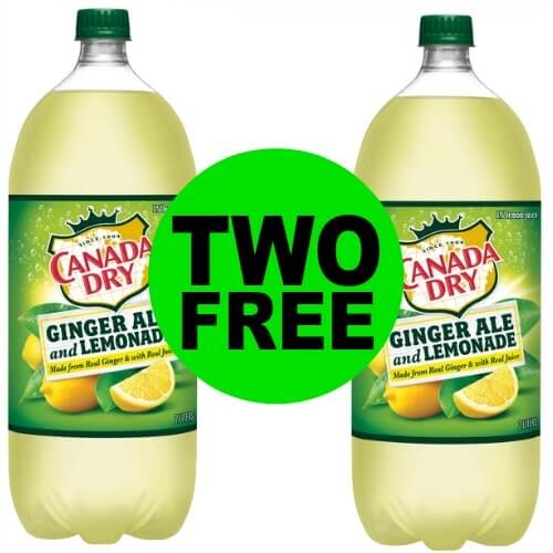 TWO (2!) FREE Canada Dry Ginger Ale and Lemonade 2 Liters at CVS! (Ends 4/7)