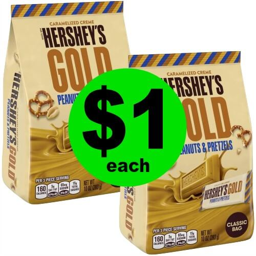 Hershey's Gold Candy Bags, $1 at CVS! (4/29-5/5)