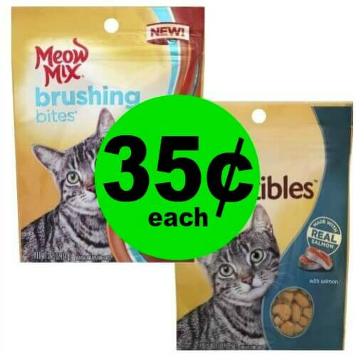 Stock Up on Kitty Treats! Meow Mix Irresistibles Treats or Brushing Bites are Only 35¢ Each at Publix! (4/4-4/8 or 4/5-4/8)