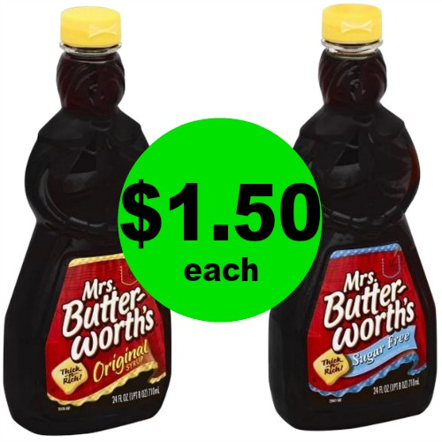 Mrs. Butterworth's Syrup, $1.50 Each at Publix! (Ends 4/7)