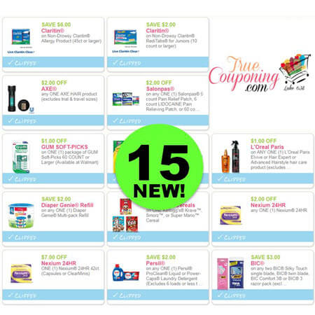 There Are Fifteen (15) New Coupons Today! Save on Axe, Claritin, Salonpas & More!