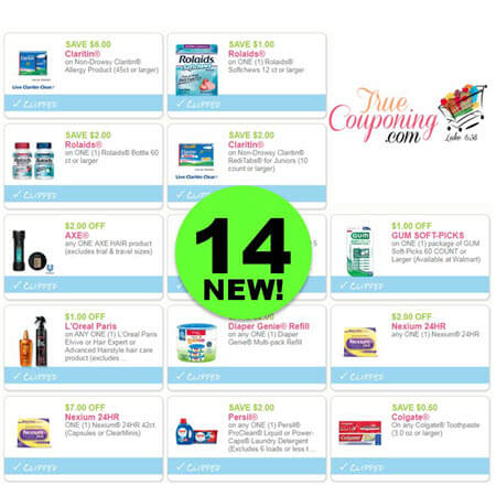Now Fourteen (14) New Coupons Out This Week! Save on Rolaids, Axe & More!