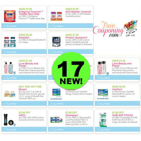 Print The New Seventeen (17) Coupons! Save on Azo, Love Beauty & More!