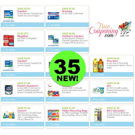 Yippee For Thirty-Five (35) New Coupons! Save on All, Hefty & More!