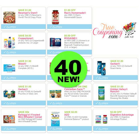 Now There Are Forty (40) New Coupons! Save on Newman's Own Pizza & More!
