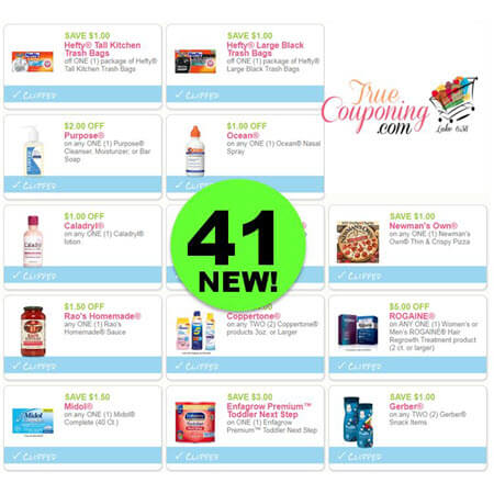 Stop For Forty-One (41) New Coupons Out Now! Save on Hefty, Caladryl & More!