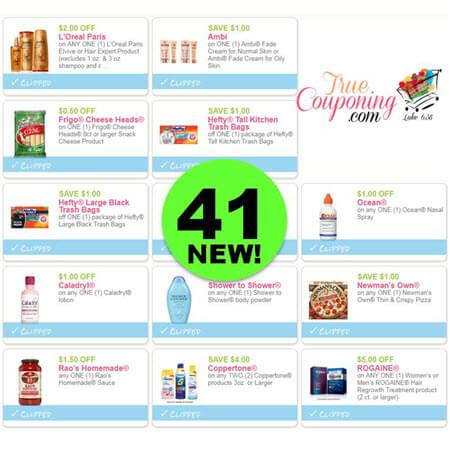 Yay For Forty-One (41) New Coupons! Save on Frigo, L'Oreal & More!