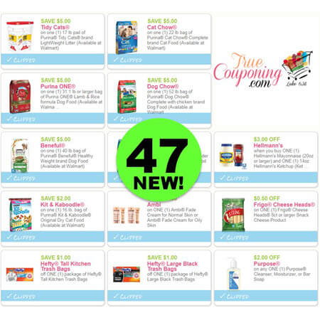 Hurrah For Forty-Seven (47) New Coupons! Save on Tidy Cats, Purina & More!