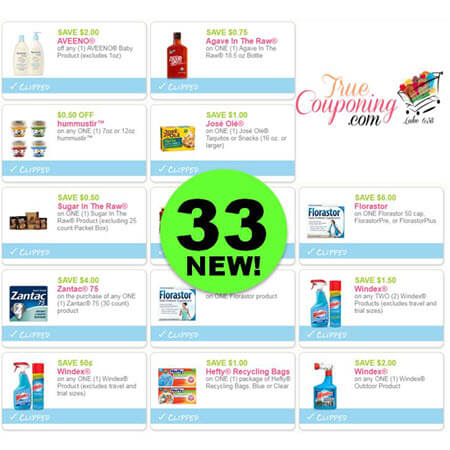 Jump for Thirty-Three (33) New Coupons! Save on Aveeno, Windex & More!