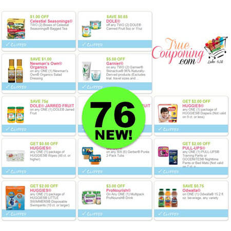 Shout Out For Seventy-Six (76) New Coupons!