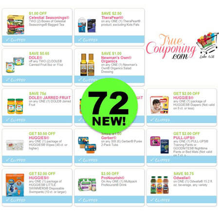 Did You See the Seventy-Two (72) New Coupons?