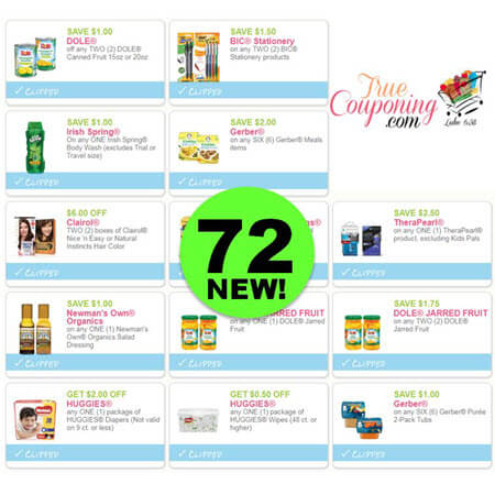 Save Over $160 With These New Coupons! Print Before They're Gone!