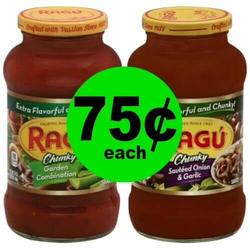 Ragu Pasta Sauce, Only 75¢ at Publix! (Ends 4/10 or 4/11)