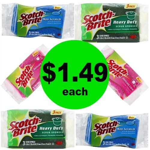 Scotch-Brite Sponges $1.49 Each (After Rebate) at Publix! (Ends 4/17 or 4/18)
