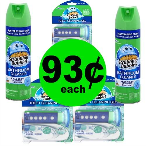 Scrubbing Bubbles Toilet Cleaners, 93¢ at Publix (At Target Too)! (Ends 4/10 or 4/11)