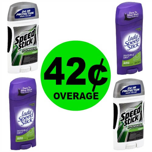 Speed Stick Deodorant Up to 42¢ Overage at Publix! (Ends 4/17 or 4/18)