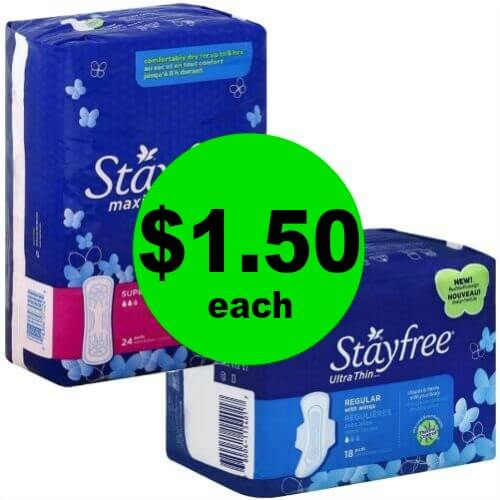 Stayfree Pads, $1.50 at Publix! (4/15-4/20)