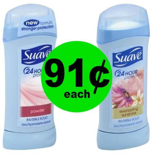 Suave Deodorant, 91¢ at Publix! (Ends 4/20)