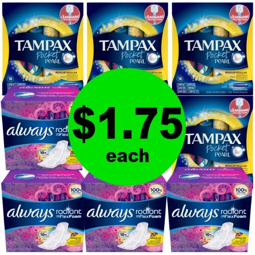 Always & Tampax Products, $1.75 at CVS! (Ends 5/5)