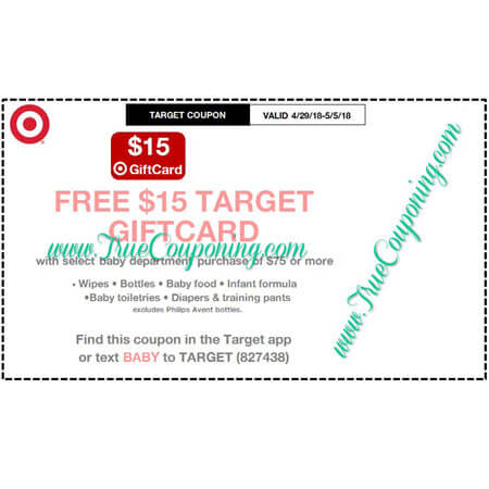 This Sunday (4/29/18) We're Getting Target Baby Coupon!