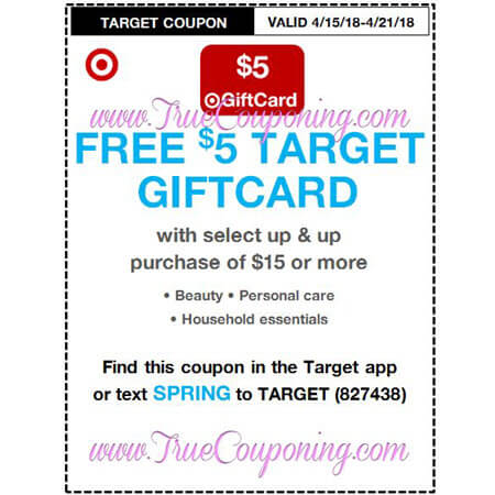 This Sunday (4/15/18) We're Getting A Up & Up Target Coupon!