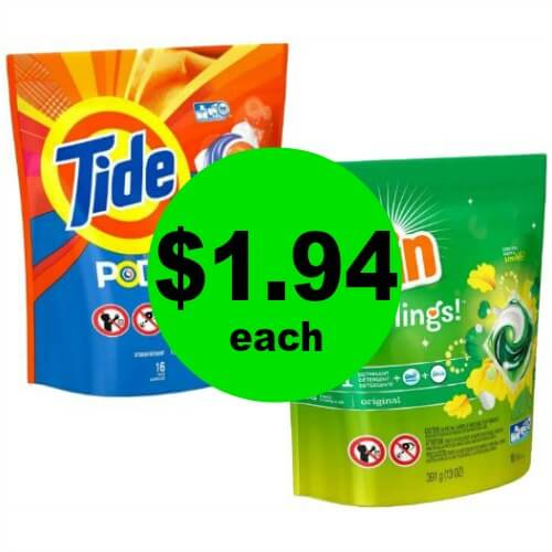 Tide Pods or Gain Flings are ONLY $1.94 Each at CVS! (Ends 4/7)